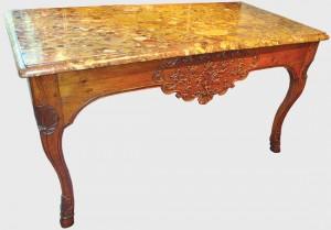 régence table à gibier