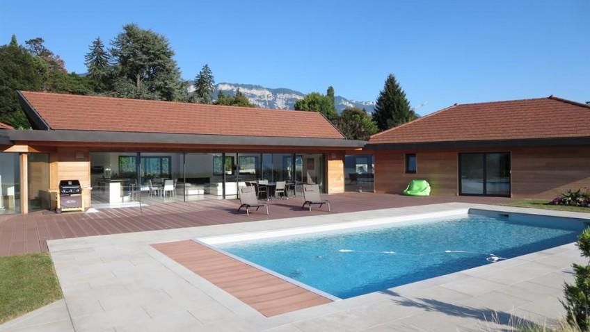 La construction d'une piscine moderne