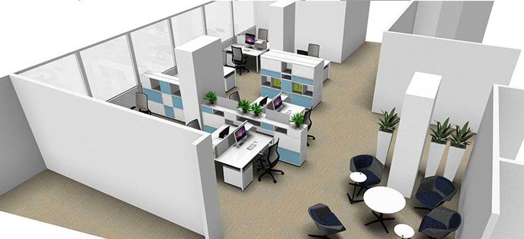 Le bureau joue sur la déco et le design !
